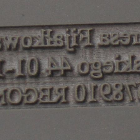 pieczątka wygrawerowana w gumie SIMOLINE z efektem stożka